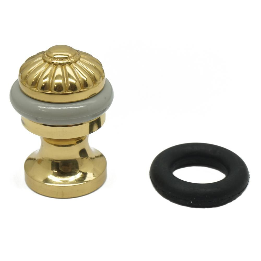 Idh By St Simons Solid Brass Melon Bullet Floor Door Stop In Polished Brass 13094 003 The Home Depot In 2020 Polished Brass Elegant Doors Door Stop