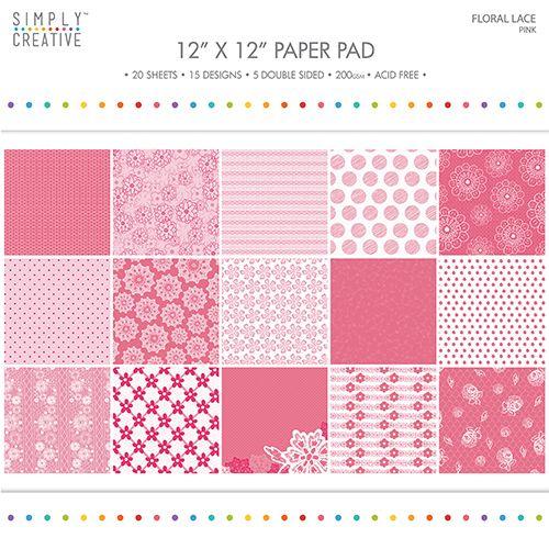 Papermania Freshly Cut Flowers 12 x 12 Paper Pack Pack of 32