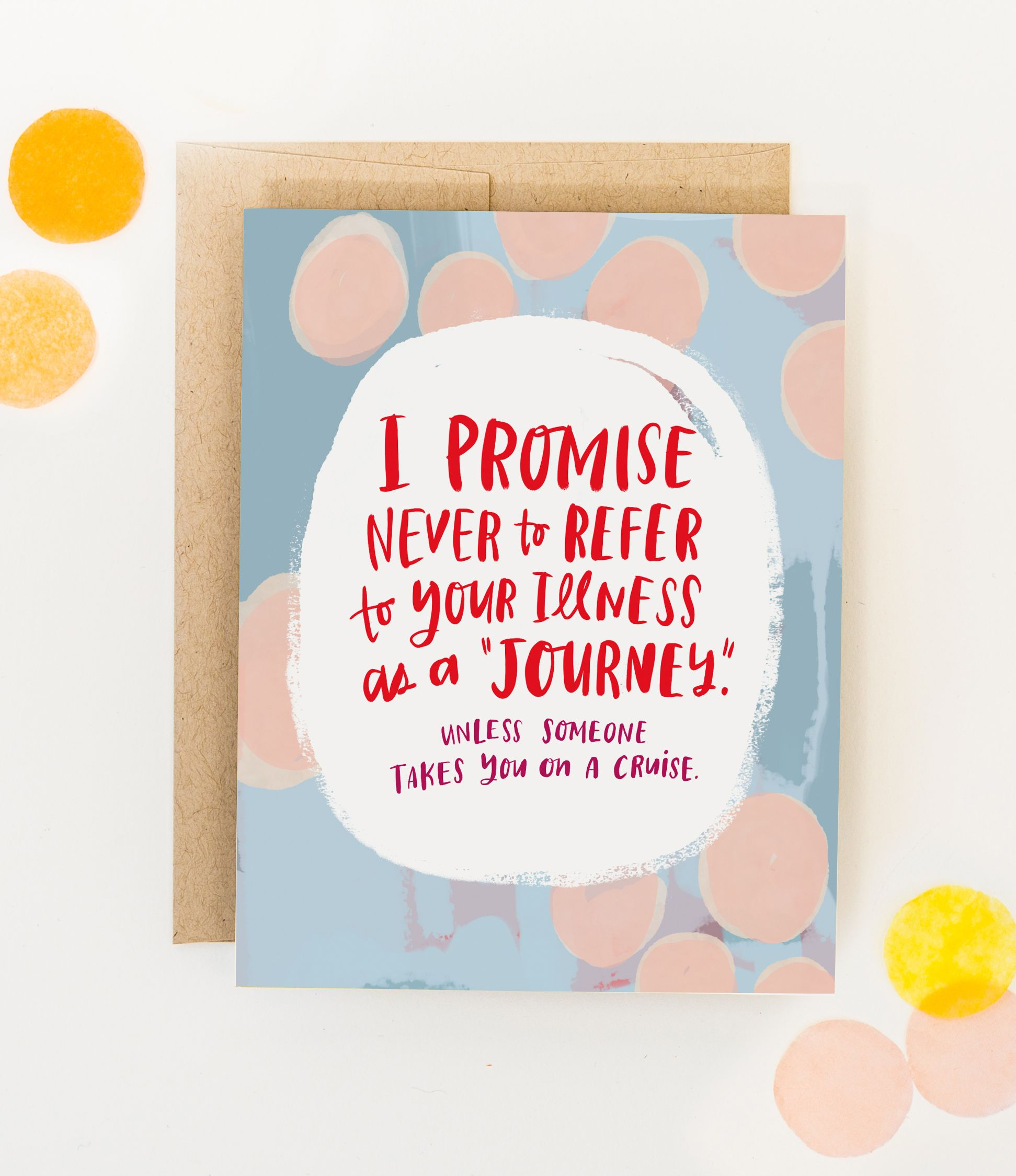 ILLNESS support love GET WELL CARD INSPIRATIONAL MESSAGE CARD BREAST CANCER