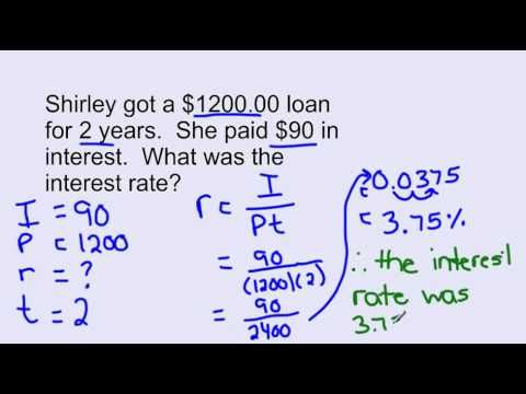 Simple Interest Formula Video Lessons Examples And Solutions Simple Interest Simple Interest Math Math Formulas