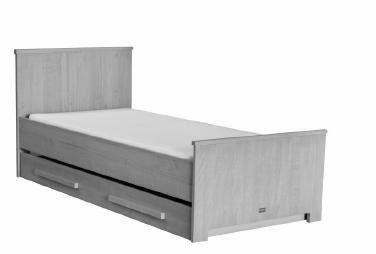 Coming kids zanzi slaap opberglade grenen grijs kinderbeddenstore grote kamer l pinterest - Kamer grijs kid ...