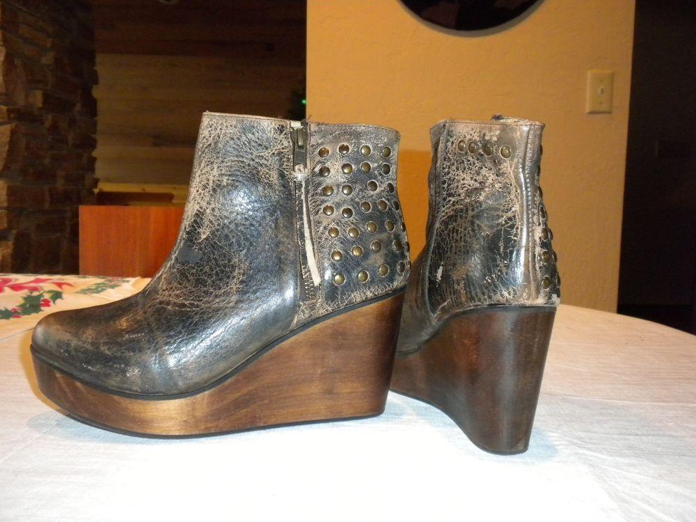 Bed Stu Leather Booties womens size 8 #BedStu #Booties