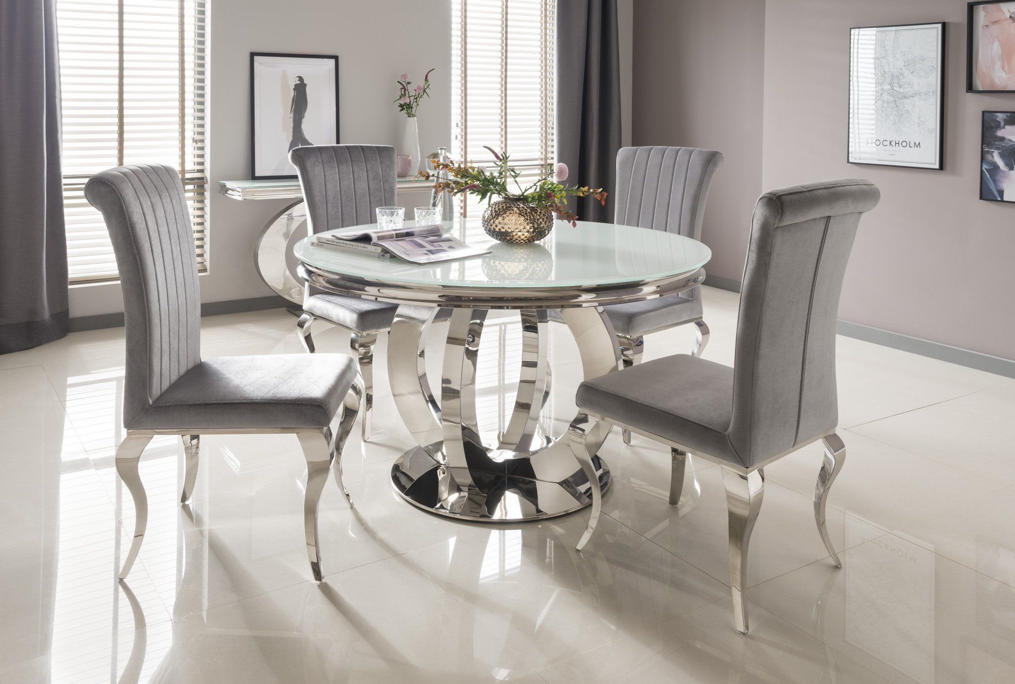 Pin By Sara Esaa On San Francisco House Round Dining Room Table Round Dining Room Sets Glass Round Dining Table