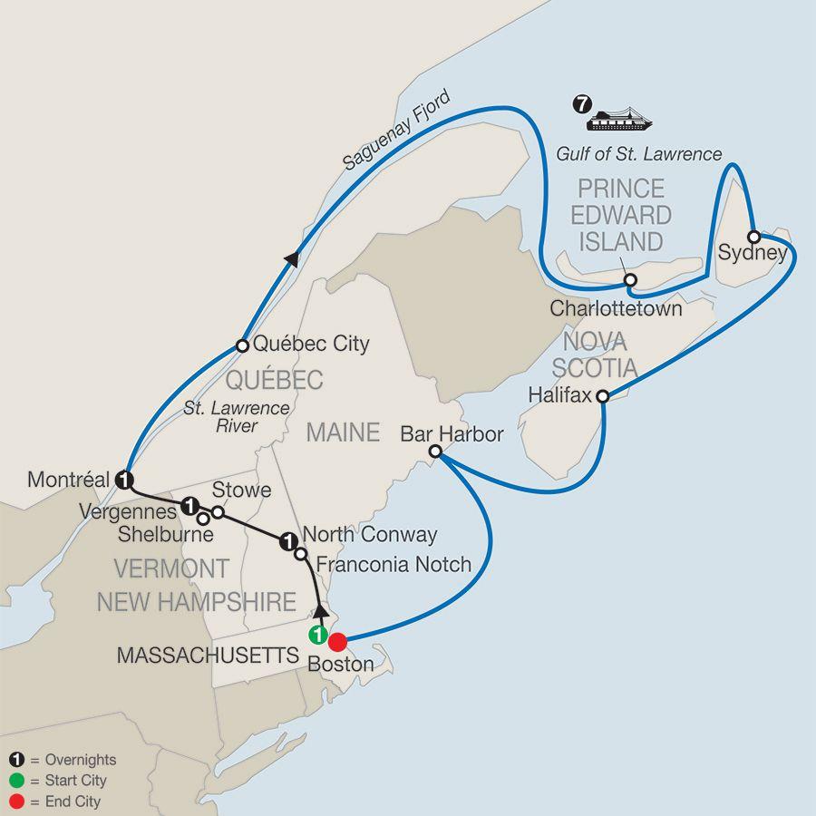 Passage Through New England Eastern Canada New England