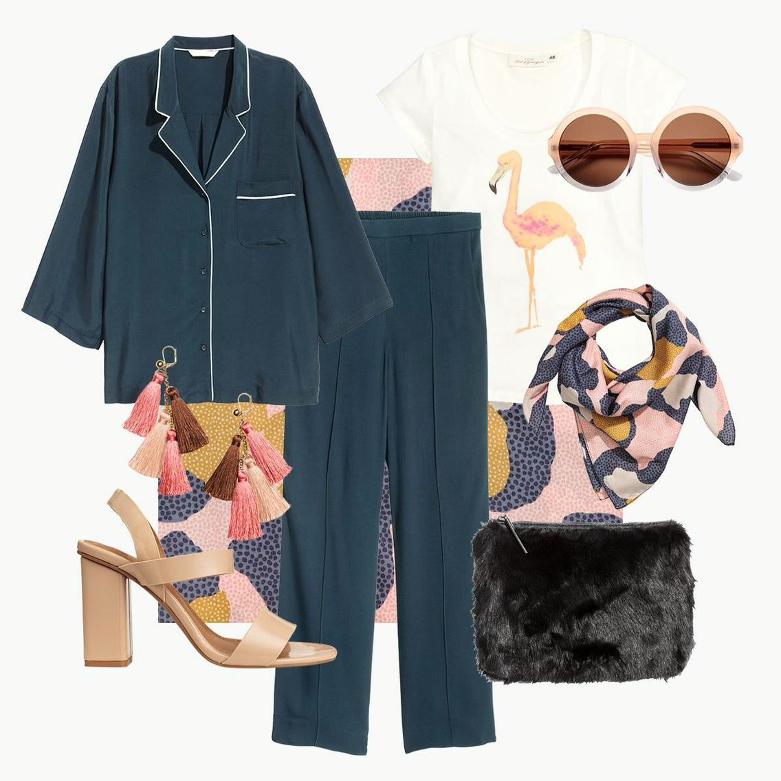 H&M is coming with this Pyjama look, perfect for us chronic sickies, we can now walk in style straight out the door or walk stylish through the hospital corridors hahaha