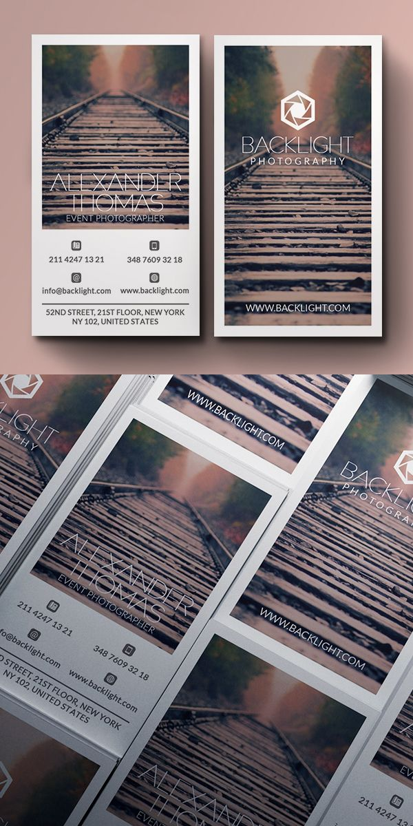 Photographer Business Card | Дизайн, Визитки | Pinterest ...