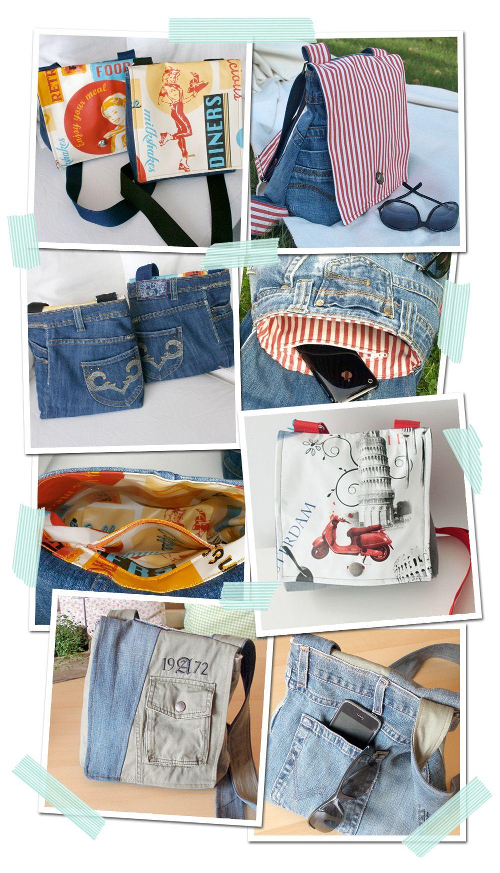 ccb6b4fbda20 Nähanleitung für eine Jeans-Tasche - Upcycling   Craft, Upcycling ...