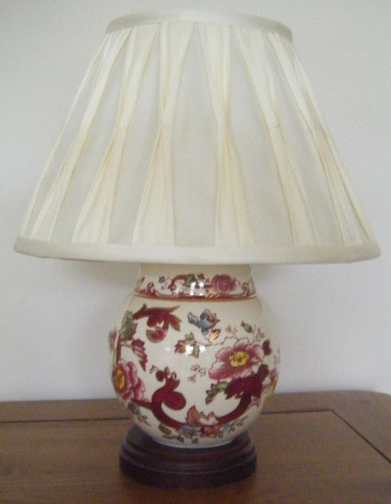 Masons Ironstone Red Mandalay small Ginger Jar table lamp PAT tested