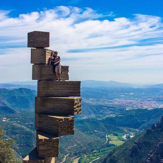These 8 Stairs To Heaven Or Montserrat Stairs In Barcelona Is An Experience You Ll Never Forget Devourbarcelo Spain Travel Barcelona Travel Places To Travel
