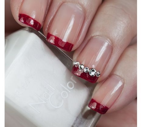 perfect wedding nails blue