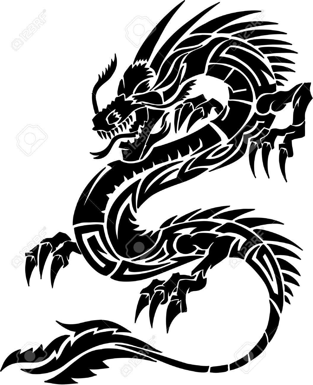 dragon tattoo stock photos pictures royalty free dragon tattoo