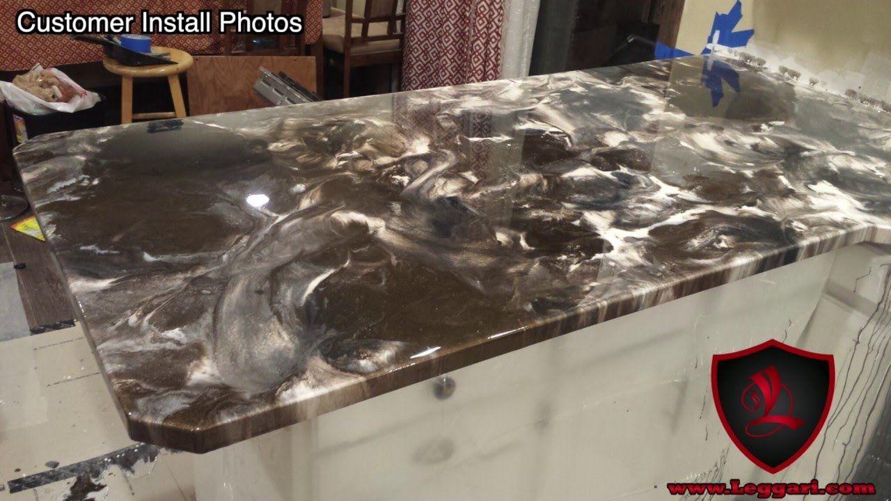 Metallic Epoxy countertop coating Tutorial   Leggari Products DIY ...