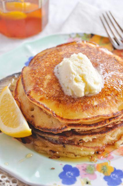 Yogurt Pancakes with Mascarpone Butter.
