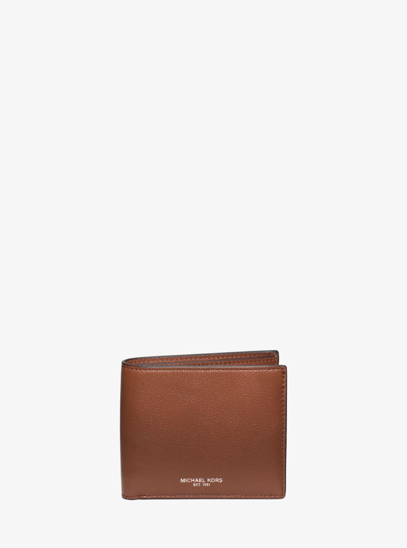 945e44a3245c5e Michael Kors Bryant Leather Billfold Wallet - Luggage Billfold Wallet, Michael  Kors Men, Leather