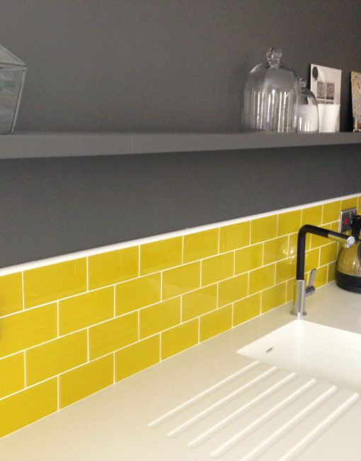 Find The Most Suitable Accessories For Your Yellow Kitchen Yellow Kitchen Decor Trendy Kitchen Backsplash Yellow Kitchen Tiles
