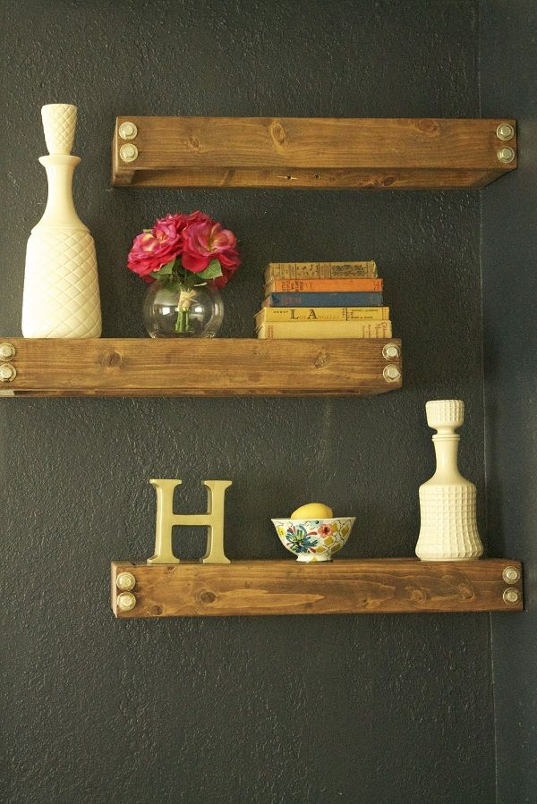 DIY!!! Rustic/Industrial Floating Shelves. For the