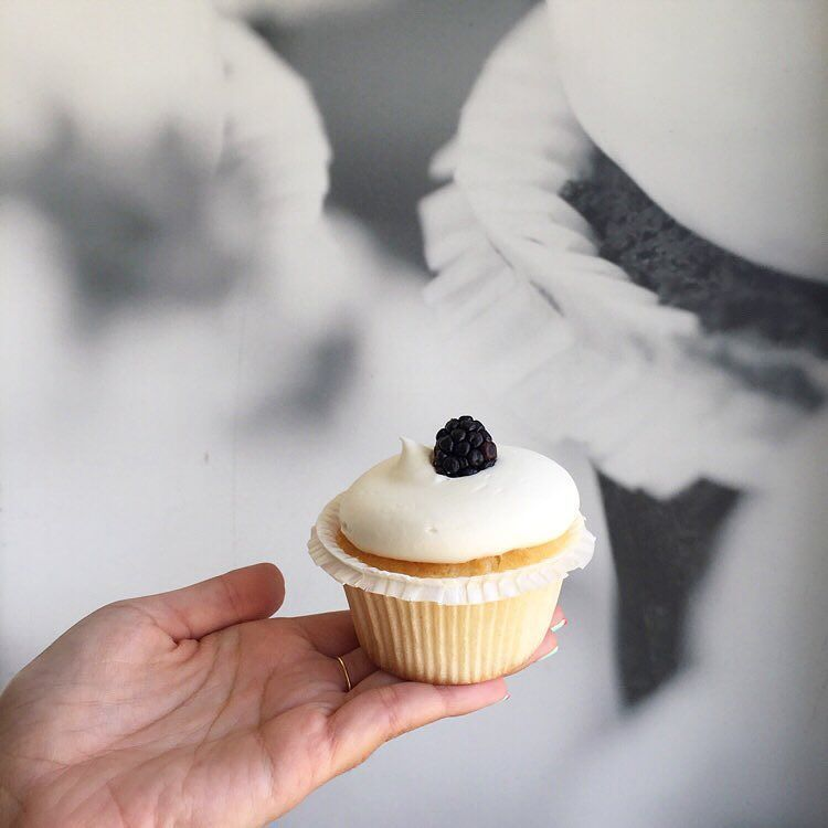 Eating cake is never a bad decision! Berry shortcake cupcake @larkcakeshop. #FriYAY by letmeeatcake