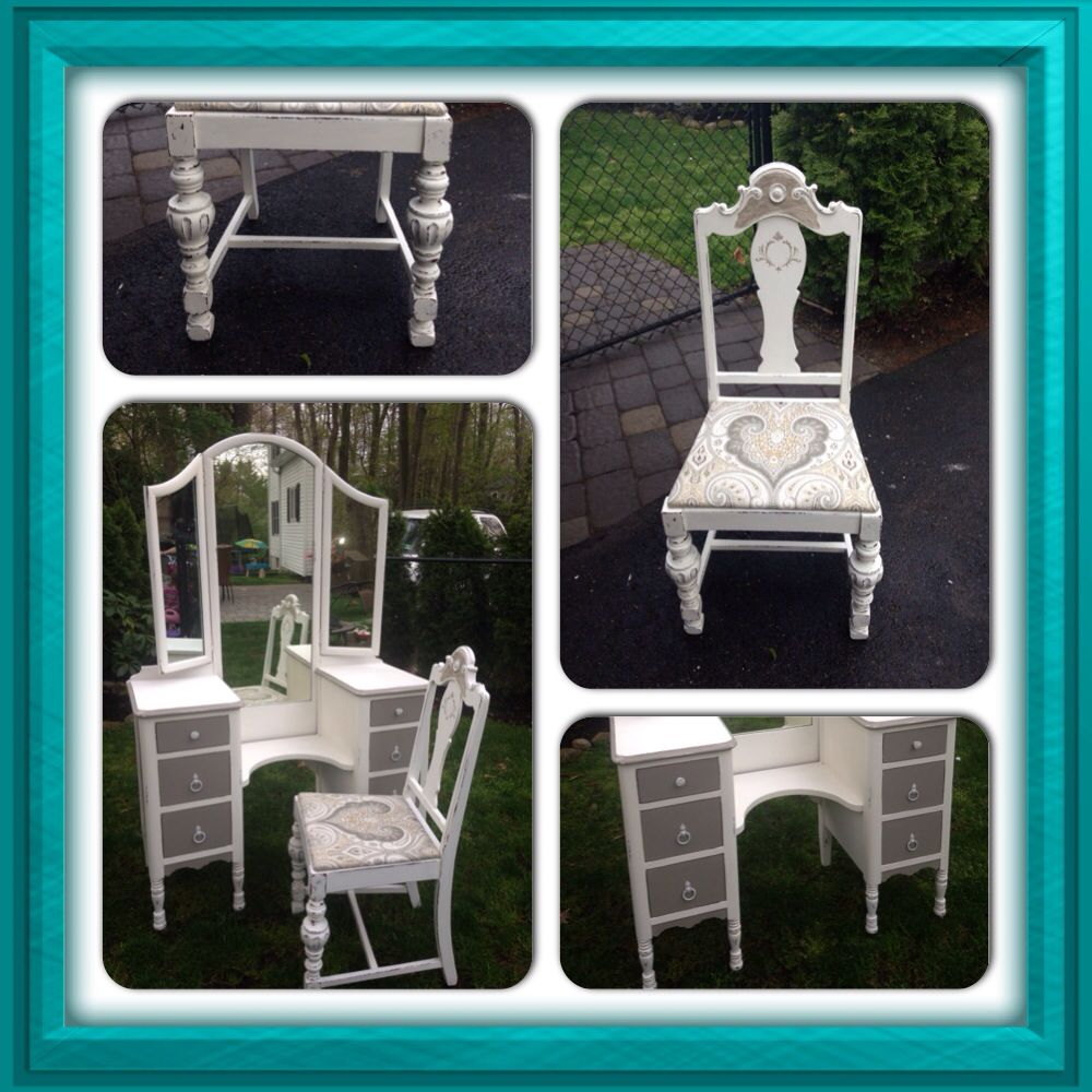 Done By Deja Vu Furniture Design With Ann Sloan Pure White And French Linen  Chalk Paint