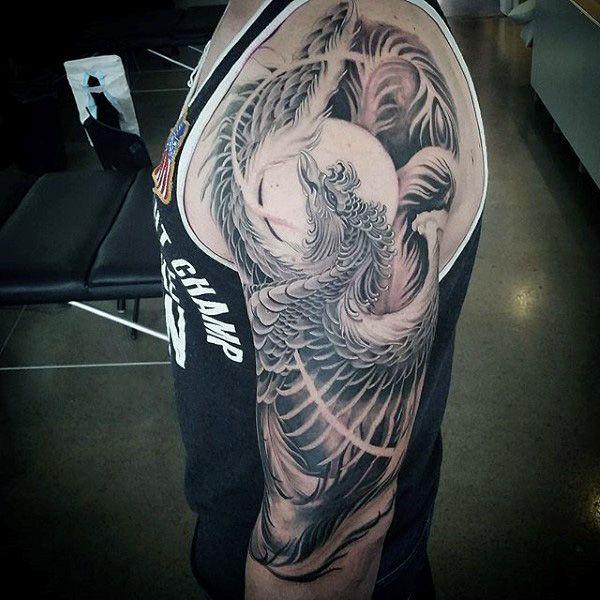 60 Phoenix Tattoo Designs For Men A 1 400 Year Old Bird Half Sleeve Tattoo Phoenix Tattoo Cool Half Sleeve Tattoos