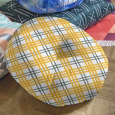 East Urban Home Green Bay Football Luxury Round Pillow Cover & Insert, Polyester/Polyfill/Polyester/Polyester blend in White/Dark Green/Gold Wayfair