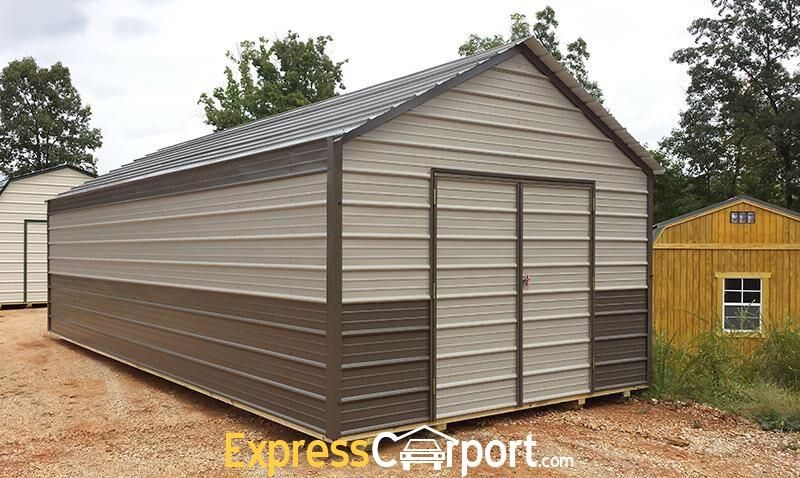 10×20 Metal Shed Express Carports Metal shed, Building