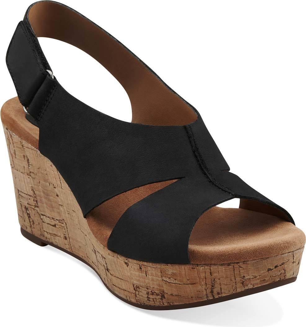 Black Nubuck Clarks Shoes Women, Clarks Sandals, Pretty Shoes, Cute Shoes,  Clark