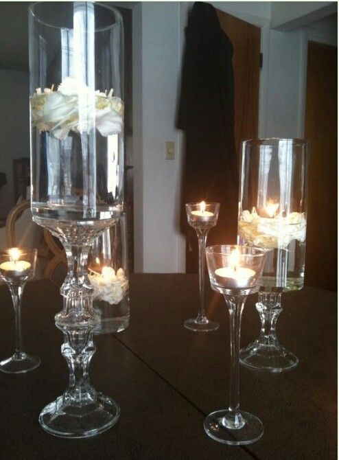 Dollar Store Vases Wedding Centerpieces Pinterest Dollar