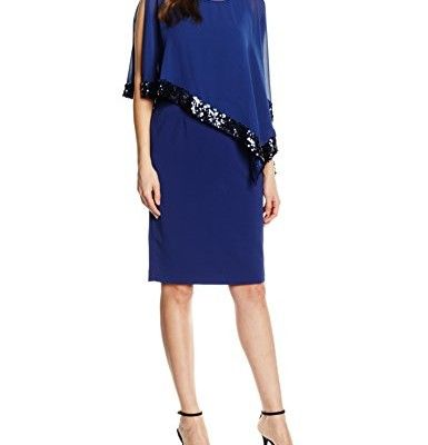 Gina-Bacconi-Damen-Kleid-Sequin-Trim-Crepe-and-Chiffon-0 | Gina ...