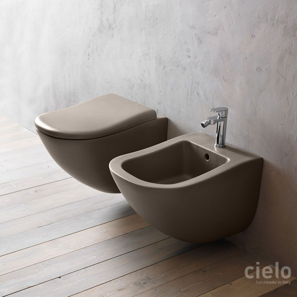 Wall Hung Wc Colored Arenaria Fluid Water Closet Colored