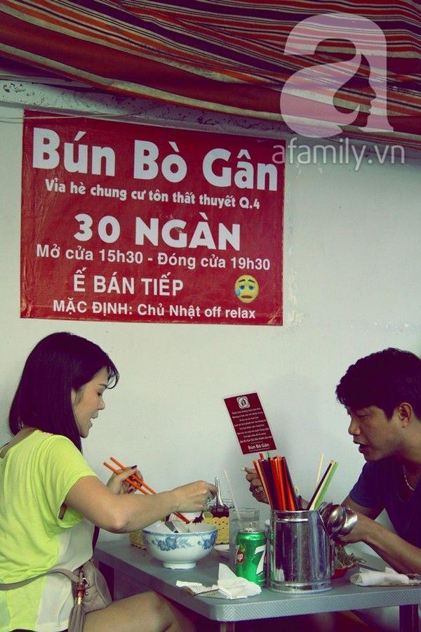 """Quán BÚN BÒ GÂN """"bá đạo"""" nhất Sài Gòn   aFamily"""