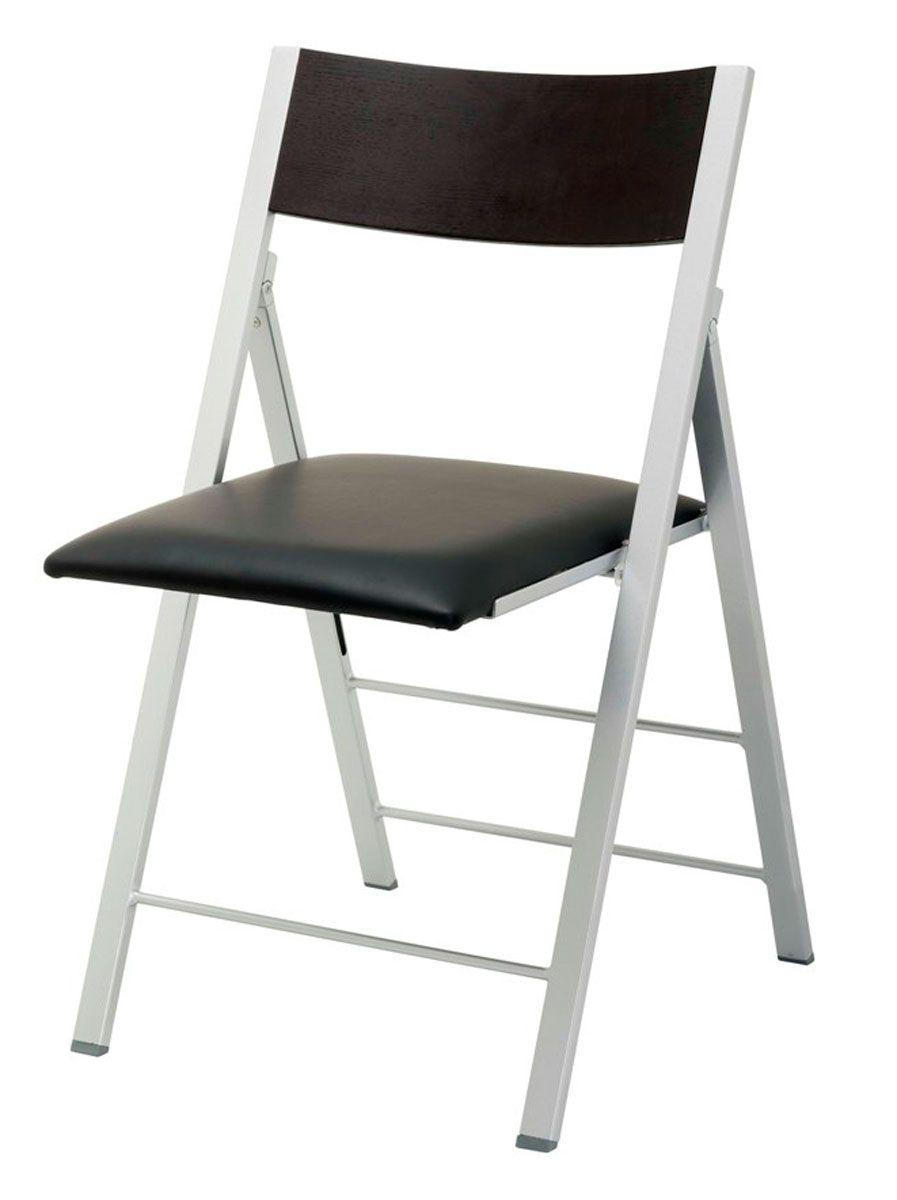 Chaise Pliante Confortable Noir Cantras