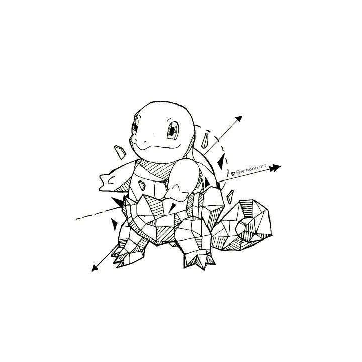 Geometric Squirtle   Dibujo   Pinterest   Dibujo, Tattoo geometrico ...