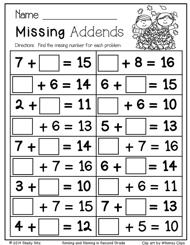 Fall Math Sample Packet Pdf Teaching Math First Grade Math Math Printables