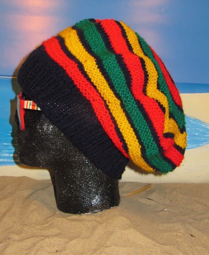 Digital File PDF Knitting Pattern Only- madmonkeyknits Jamaican Tam ...
