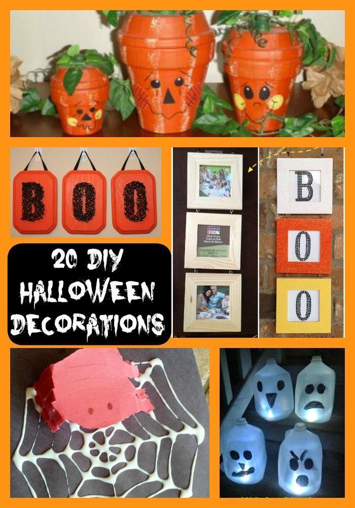 20 DIY Halloween Decorations Frugal Halloween Fun Pinterest