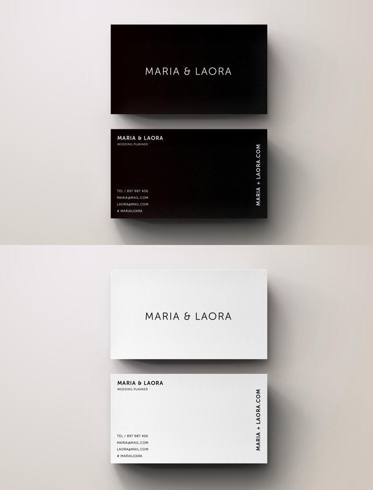 Simple, Minimal Business Card Template Business Cards - blank business card template