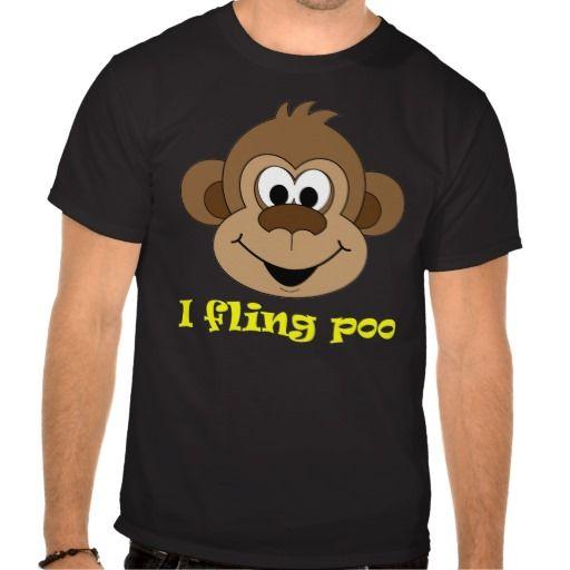 I Fling Poo Monkey funny T Shirt