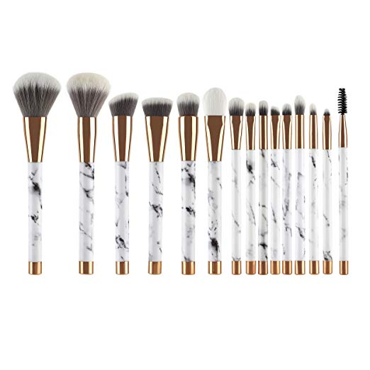 Amazon Com Unimeix Makeup Brushes 15 Pieces Makeup Brush Set Premium Face Eyeliner Blush Contour Foundati Makeup Brush Set It Cosmetics Brushes Makeup Brushes
