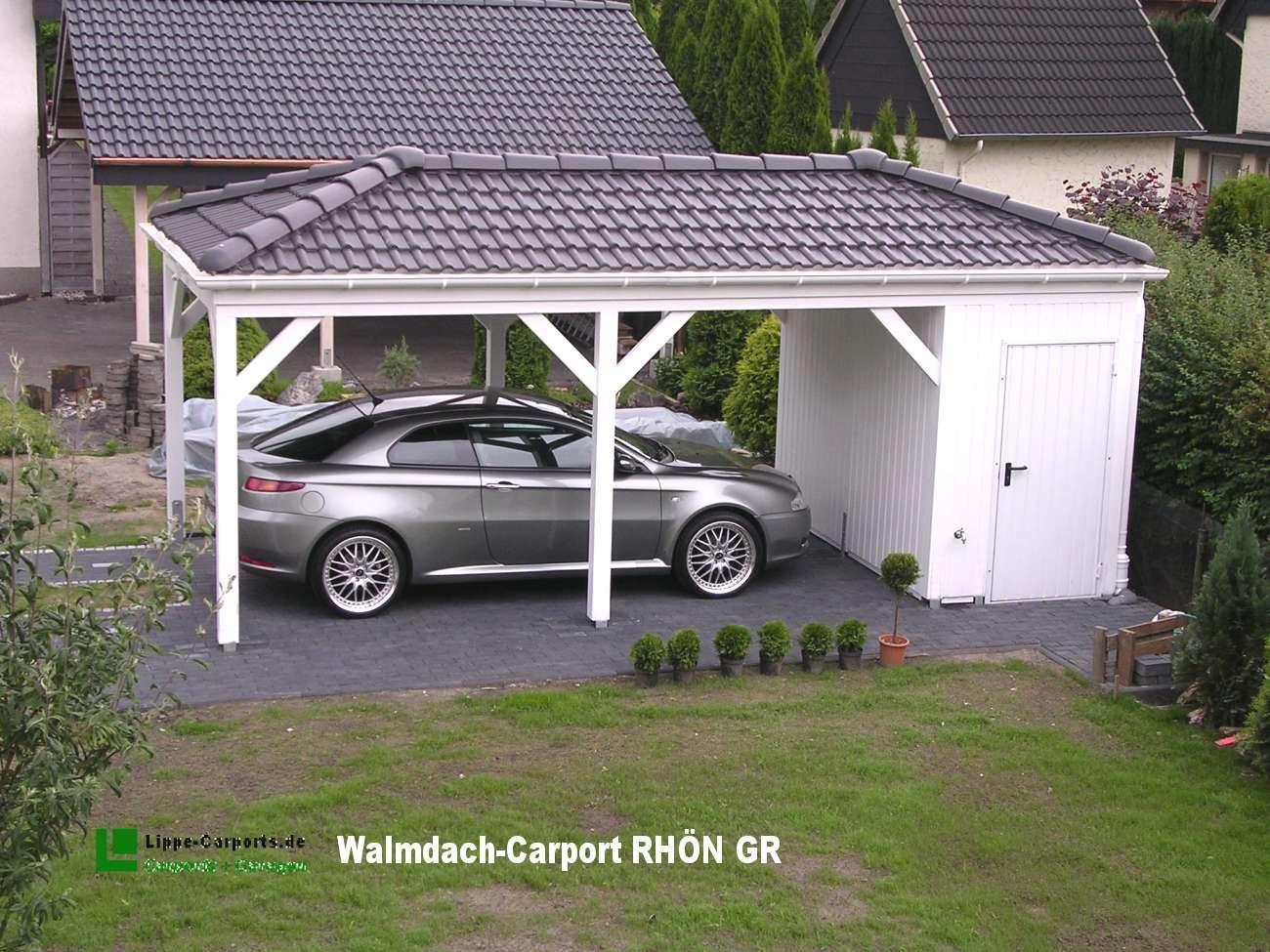 Walm und Satteldach Carport in Holz, Alu, Stahl
