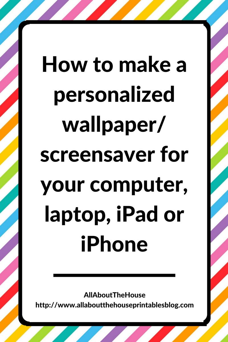 How to make a personalised or laptop