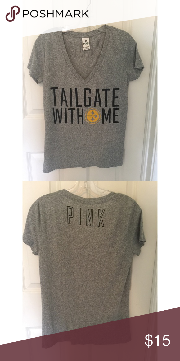 VS Pink Steelers Vneck tee Pittsburgh Steelers