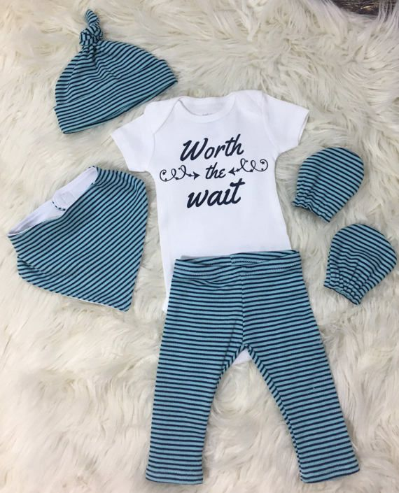 ff5d40ea30bda Baby boy homecoming outfit, coming home outfit boy, worth the wait ...