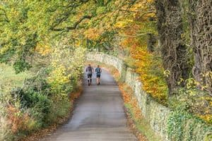 Peak District National Park - Rural lane, Froggatt Bridge.