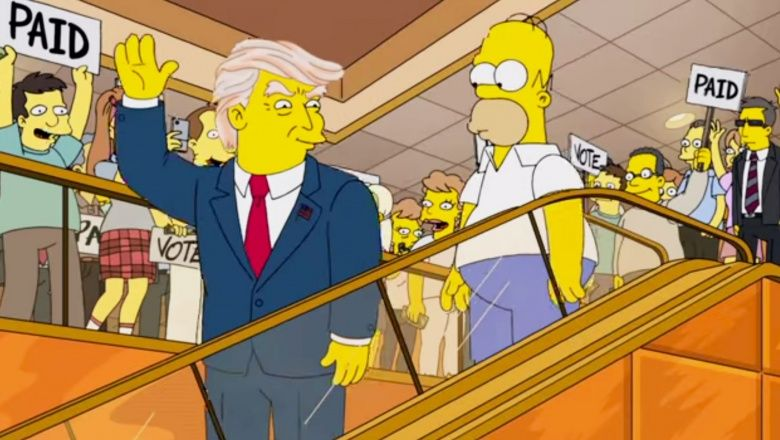 The Simpsons called it: President Trump