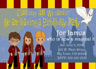 Wizard Birthday Invitations School of Wizardry Birthday Party Invitation Printable Harry Potter Inspired