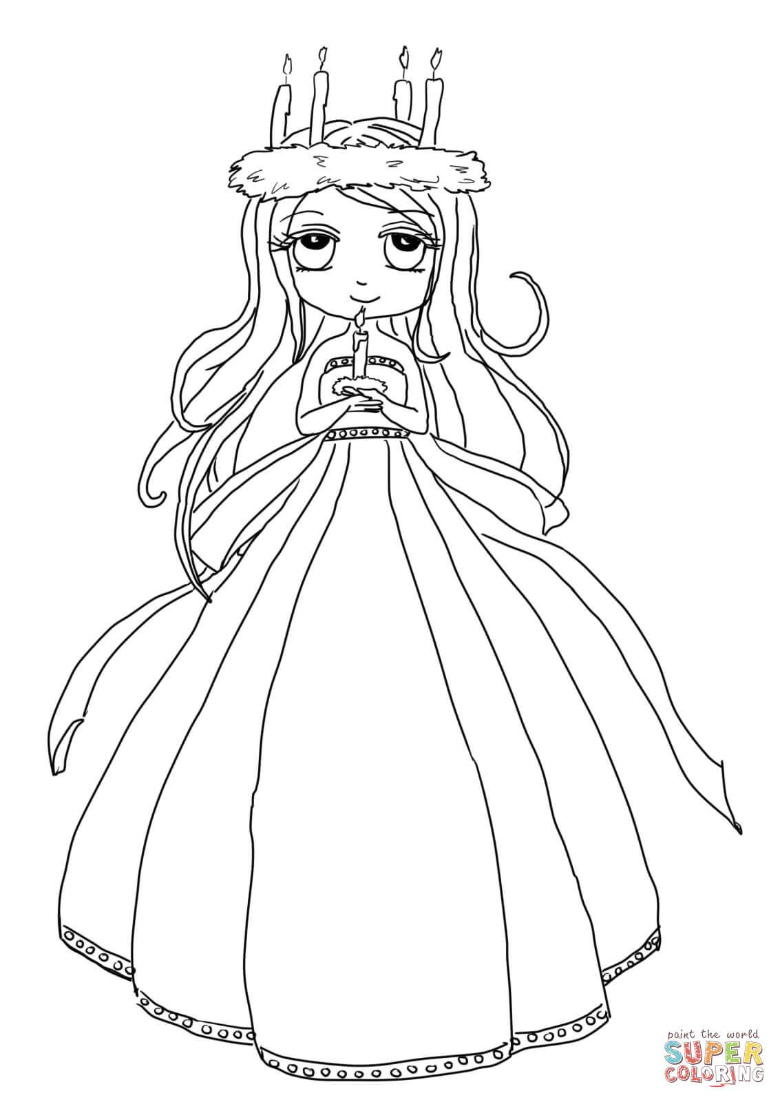 Cute St Lucia Girl Super Coloring Coloring Pages Free Coloring Pages Free Coloring
