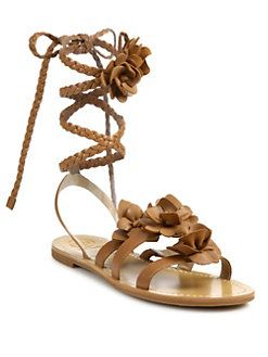 42cc48c8a Tory Burch - Blossom Gladiator Leather Sandals