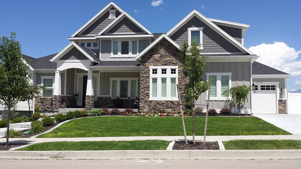 Victory Homes Home In Herriman Craftsman Gray Inspiration Sherwin Williams 200 Dorian Gray