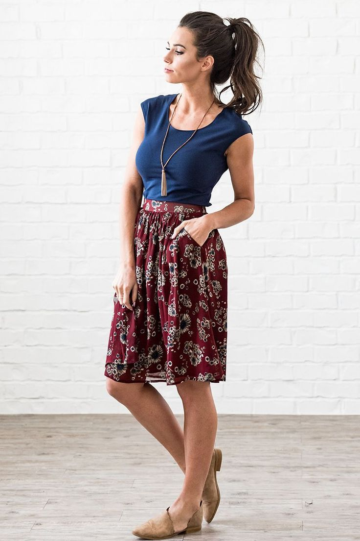 Gathered Full Skirt - MSF18612 #fullskirtoutfit