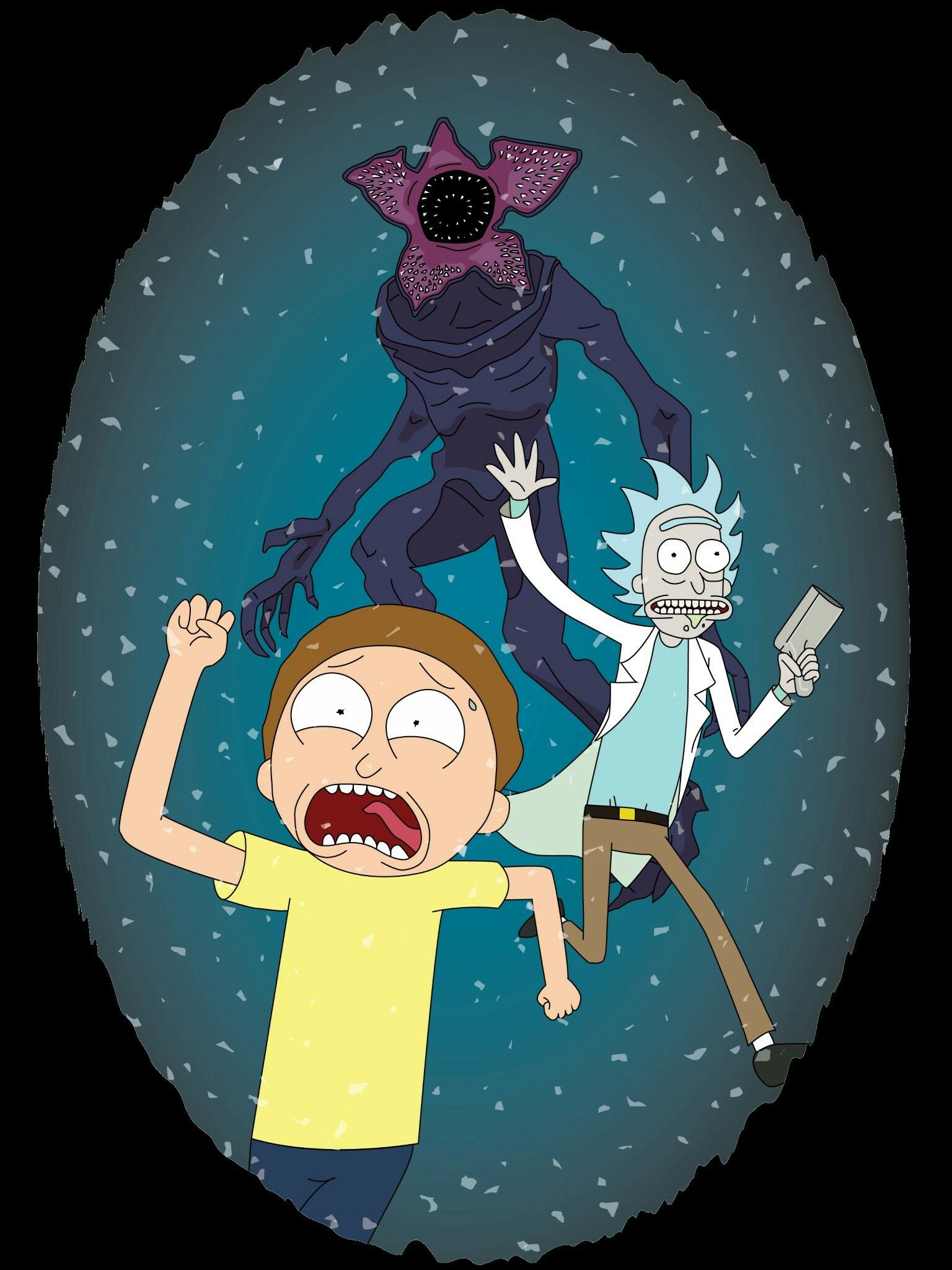 Rick And Morty In The Upside Down Via Reddit Rick And Morty